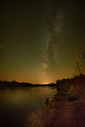 Milky Way on the Snake River.